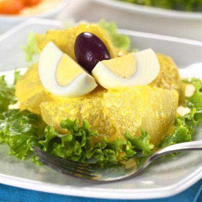 Peruvian Dish Called Papa a la Huancaina