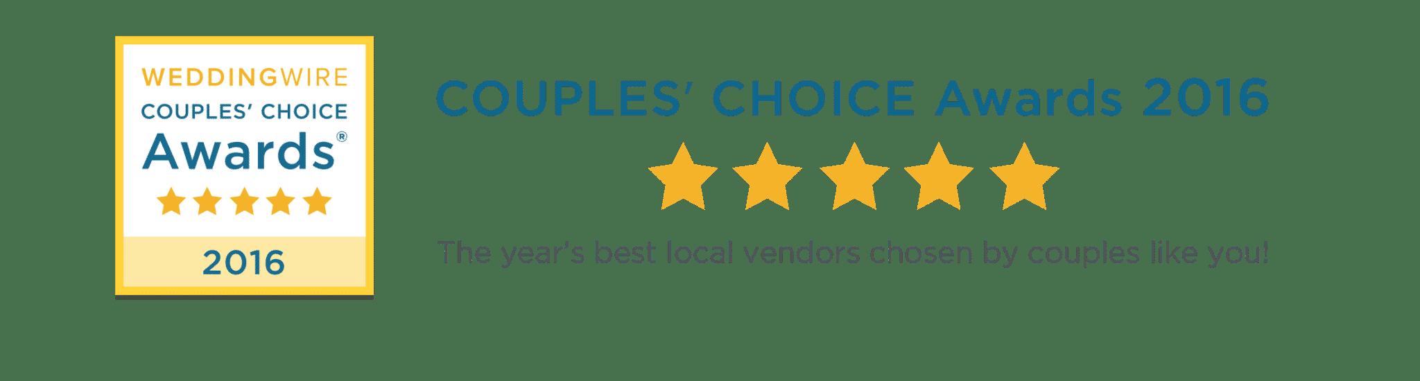 2016 WeddingWire Couples' Choice Award®