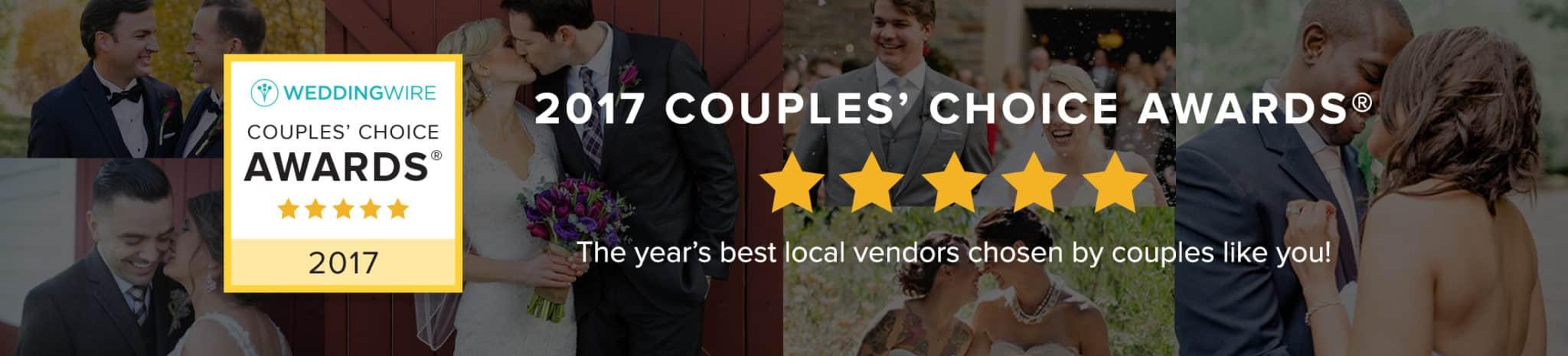 2017 WeddingWire Couples' Choice Award®